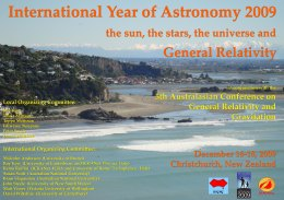 International Year of Astronomy 2009 Meetings